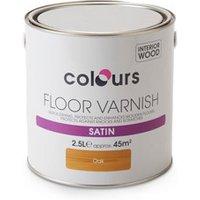 Colours Oak Satin Floor Wood varnish  2.5L