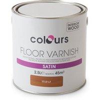 Colours Walnut Satin Floor Wood varnish  2.5L