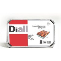 Diall Charcoal Party size disposable Barbecue.