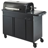 GoodHome Rockwell C410 Black Charcoal Barbecue.