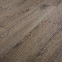 Strood Grey Oak effect High-density fibreboard (HDF) Laminate Flooring Sample
