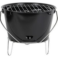 Sommen Black Charcoal Bucket Barbecue.
