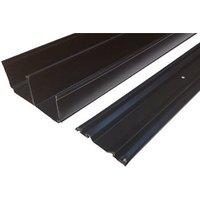 Valla Contemporary Black Sliding wardrobe door track set (L)2700mm