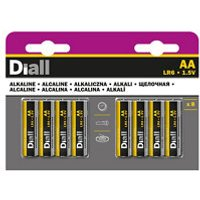 Diall Alkaline batteries Non rechargeable AA (LR6) Battery Pack of 8.