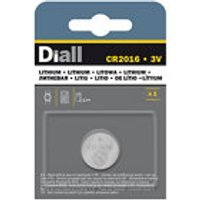 Diall Lithium batteries Non rechargeable CR2016 Button cell battery at B&Q DIY