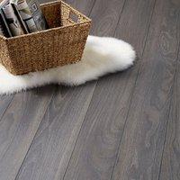 Horsham Grey Oak effect High-density fibreboard (HDF) Laminate Flooring Sample