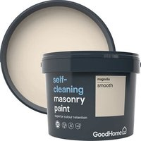 GoodHome Self-cleaning Magnolia Smooth Matt Masonry paint  1