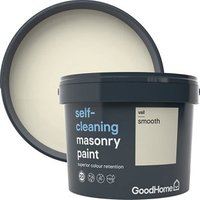 GoodHome Self-cleaning Vail Smooth Matt Masonry paint  10L