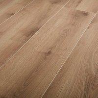 GoodHome Masham Natural Oak effect Laminate flooring  1.55m² Pack