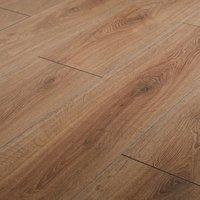 GoodHome Neston Natural Oak effect Laminate flooring  1.3m² Pack
