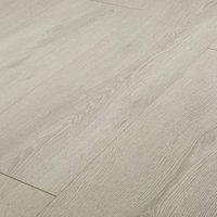 GoodHome Newlyn Grey Oak effect Laminate flooring  1.68m² Pack