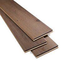 Padiham Brown Gloss Dark oak effect Laminate Flooring Sample