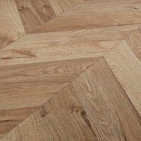 GoodHome Heanor Natural Light oak effect Laminate flooring  2.7m² Pack
