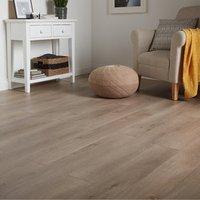 GoodHome Leiston Grey Oak effect Laminate flooring  1.76m² Pack