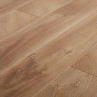 GoodHome Lydney Natural Oak effect Laminate flooring  1.76m² Pack
