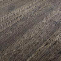 GoodHome Shildon Black Dark oak effect Laminate flooring  1.76m² Pack