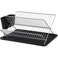 GoodHome Datil Chrome effect X shape Dish drainer rack  (W)460mm