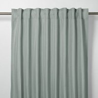 Klama Blue grey Plain Unlined Pencil pleat Curtain (W)140cm (L)260cm  Single