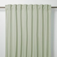 Klama Blue and green Plain Unlined Pencil pleat Curtain (W)140cm (L)260cm  Single
