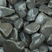 Blooma Black 40-90mm Stone Pebbles  22.5kg Bag