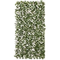Fabric leave  willow trellis Green Garden screen (H)1m (W)2m