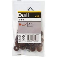 Diall Brown Snap cap Pack of 20.