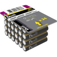 Diall Non rechargeable AAA Battery Pack of 24.