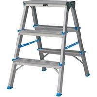Mac Allister 3 tread Aluminium Step Ladder (H)0.65m.