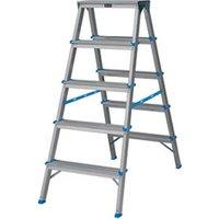 Mac Allister 5 tread Aluminium Step Ladder (H)1.08m.