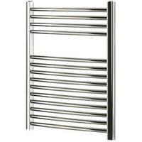 Blyss 252W Electric Chrome Towel warmer (H)700mm (W)600mm