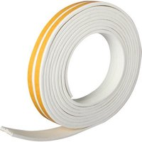 Diall White Self-adhesive Draught seal (L)24m.