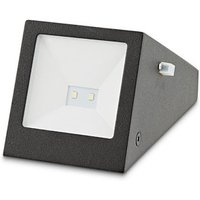 Blooma Plevna Black Solar-powered LED Outdoor Brick Wall light