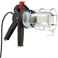 Diall Black & red Inspection light 60W 220-240V.