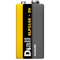Diall Non rechargeable 9V Battery.