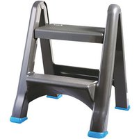 Mac Allister 2 tread Plastic Foldable Step stool (H)0.63m.