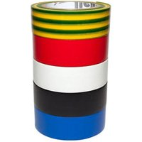Diall Multicolour Electrical Tape (L)10m (W)19mm Pack of 5.