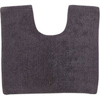 Cooke and Lewis Diani Anthracite Cotton Tufty Slip resistant Bath mat (L)500mm (W)450mm