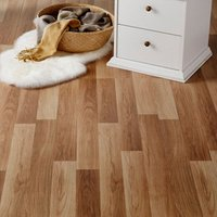 Goldcoast Natural Gloss Oak effect Laminate Flooring Sample