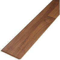 Geraldton Natural Gloss Walnut effect Laminate Flooring Sample