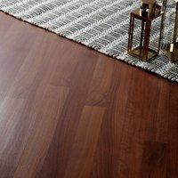 GoodHome Geraldton Natural Walnut effect Laminate flooring  2.47m² Pack