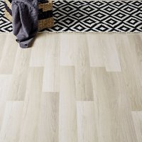 GoodHome Townsville Grey Oak effect Laminate flooring  2.47m² Pack