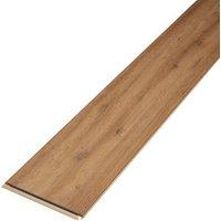 Devonport Natural Gloss Oak effect Laminate Flooring Sample
