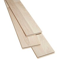 Broome Natural Gloss Oak effect Laminate Flooring Sample