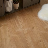GoodHome Gladstone Oak effect Laminate Flooring  1.996m² Pack