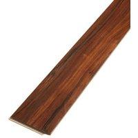 Bannerton Natural Gloss Mahogany effect Laminate Flooring Sample