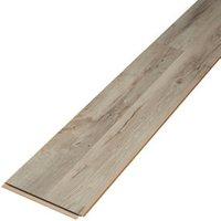Ballapur Grey Gloss Oak effect Laminate Flooring Sample