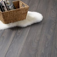 GoodHome Horsham Grey Oak effect Laminate flooring  2.06m² Pack