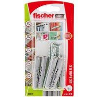 Fischer Nylon & steel Wall plug (L)50mm (Dia)8mm Pack of 5.