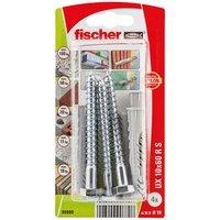 Fischer Nylon & steel Wall plug (L)60mm (Dia)10mm Pack of 4.
