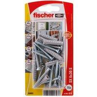 Fischer Nylon & steel Wall plug (L)30mm (Dia)10mm Pack of 15.
